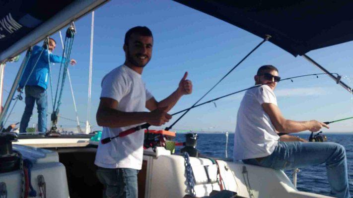 דייגים ביאכטה