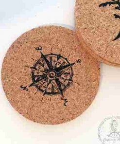 סט 4 תחתיות כוסות בעיצוב ימי בעבודת יד