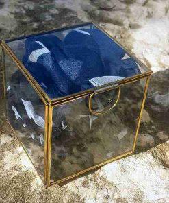 צעיף ימי בעיצוב ייחודי בצבע כחול - בקוספת זכוכית