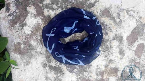 צעיף ימי בעיצוב ייחודי בצבע כחול NAVY